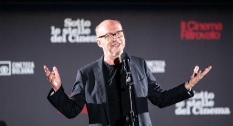 """Il premio Oscar Paul Haggis in Piazza Maggiore: """"Siete fortunati ad avere la Cineteca. A New York non abbiamo una cosa così."""""""