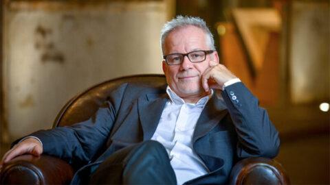 Il direttore del Festival di Cannes Thierry Frémaux lunedì al Cinema Ritrovato